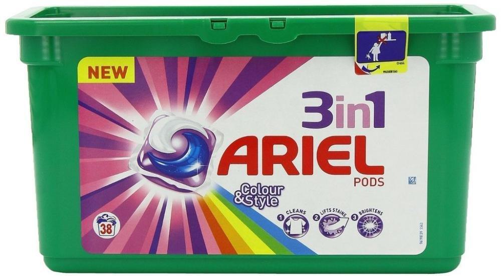 Капсулы для стирки Ariel Pods 3 в 1 (38 шт.) в асортименте.