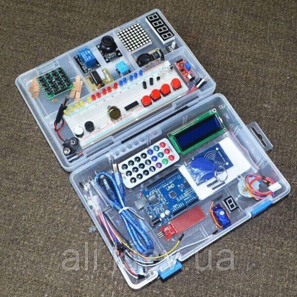 Навчальний набір Arduino RFID UNO R3 Starter Kit просунутий з кейсом Ардуїнов робототехніка
