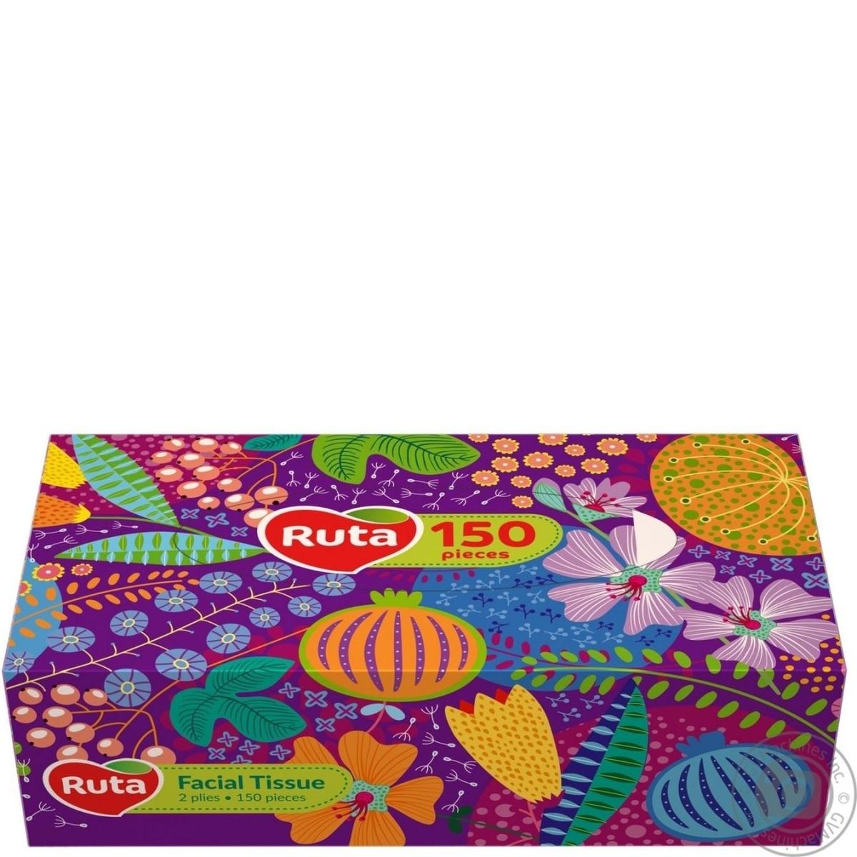 Салфетки Рута (100 + 50шт) косметические в коробочках