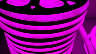 Гибкий светодиодный Неон уличный LTL FLEX 8Х16мм 120 LED 2835SMD IP67 220V розовый, фото 3