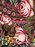 Ненаглядная 1025-10, павлопосадский платок (шаль) из уплотненной шерсти с шелковой вязанной бахромой, фото 8