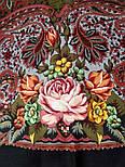 Ненаглядная 1025-10, павлопосадский платок (шаль) из уплотненной шерсти с шелковой вязанной бахромой, фото 9