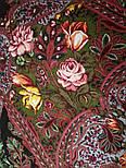 Ненаглядная 1025-10, павлопосадский платок (шаль) из уплотненной шерсти с шелковой вязанной бахромой, фото 10