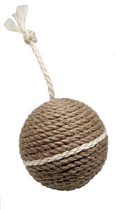 Шарик когтеточка Бимба из джута, фото 2