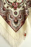 Журавушка 527-1, павлопосадский вовняну хустку з шовковою бахромою, фото 2
