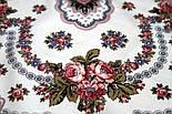Журавушка 527-1, павлопосадский вовняну хустку з шовковою бахромою, фото 5