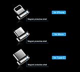 3 в 1 Магнитный кабель 3A микро USB зарядка и передача данных, фото 2