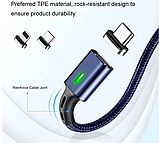 3 в 1 Магнитный кабель 3A микро USB зарядка и передача данных, фото 3