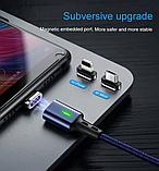 3 в 1 Магнитный кабель 3A микро USB зарядка и передача данных, фото 7