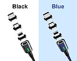 3 в 1 Магнитный кабель 3A микро USB зарядка и передача данных, фото 5
