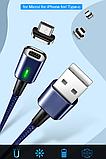3 в 1 Магнитный кабель 3A микро USB зарядка и передача данных, фото 6