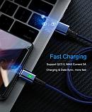 3 в 1 Магнитный кабель 3A микро USB зарядка и передача данных, фото 9