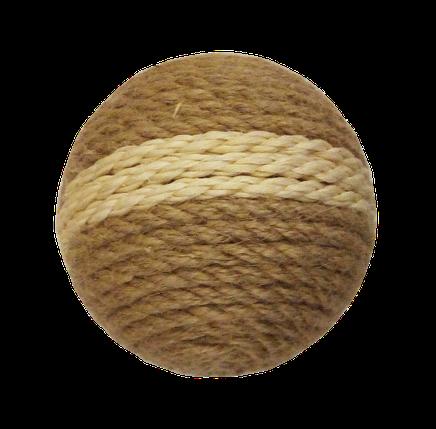 Шарик когтеточка джут и сизаль с полоской, фото 2