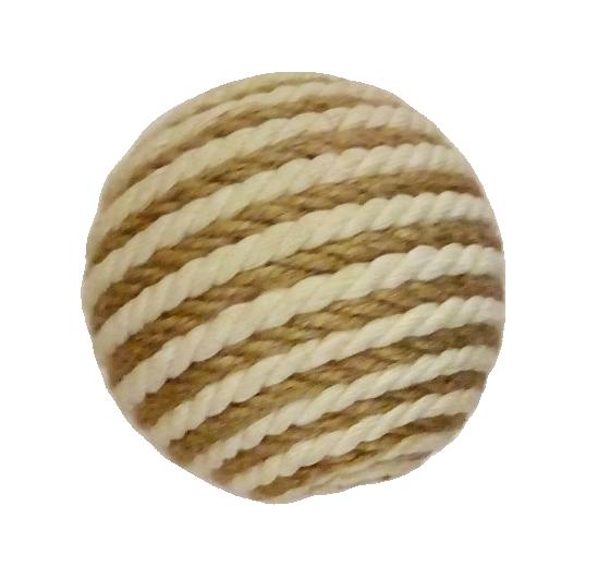 Шарик когтеточка из джута и хлопка D=9см