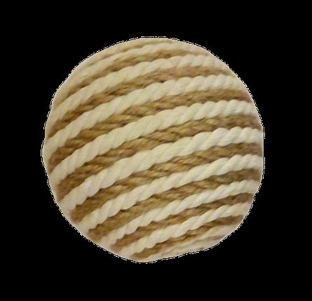 Шарик когтеточка из джута и хлопка D=9см, фото 2