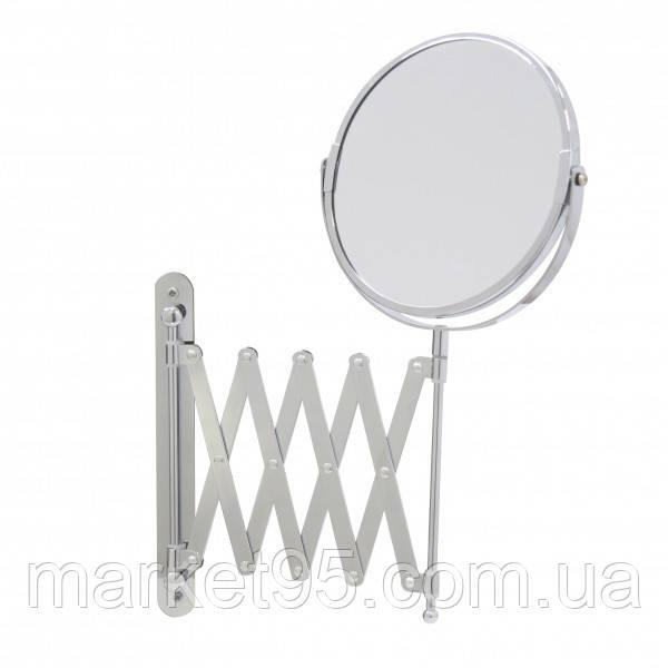 Зеркало косметическое увеличительное настенное  Ø17 СМ