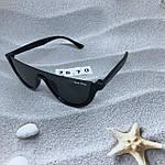 Модные черные очки в черной оправе, фото 5
