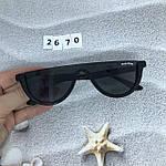 Модные черные очки в черной оправе, фото 7