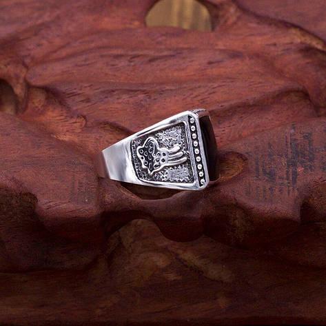 Перстень - PEB-16 Печатка с камнем - 5, фото 2