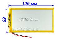 Аккумулятор планшета 4000 мАч (по размерам 3.5*69*125 мм) - 3,7в 4000mAh 3.7v универсальный