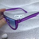 Модные голубые очки в фиолетовой оправе miu miu, фото 4