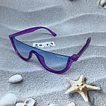 Модные голубые очки в фиолетовой оправе miu miu, фото 5
