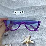 Модные голубые очки в фиолетовой оправе miu miu, фото 6