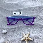 Модные голубые очки в фиолетовой оправе miu miu, фото 7