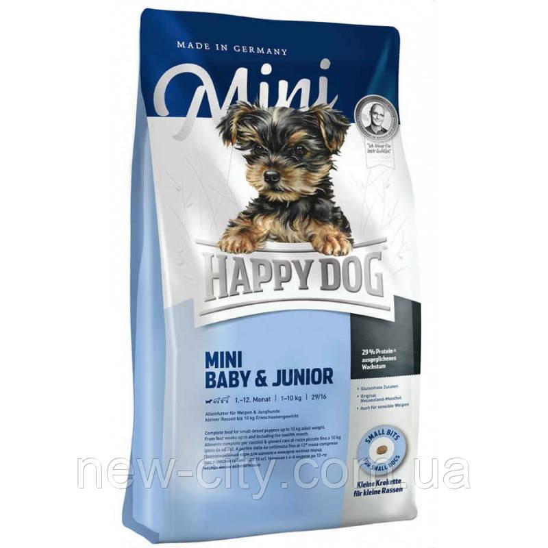 Корм Happy Dog (Хэппи дог)  Mini Baby & Junior  для щенков малых пород 4кг