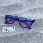 Модные голубые очки в фиолетовой оправе miu miu, фото 3