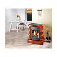 Кафельная печь камин на дровах Haas+Sohn Manta Медовая.