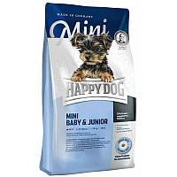 Корм Happy Dog (Хэппи дог)  Mini Baby & Junior  для щенков малых пород 10кг