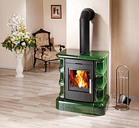 Кафельная печка на дровах ( Каминофен ) Haas+Sohn Manta Зеленая., фото 1