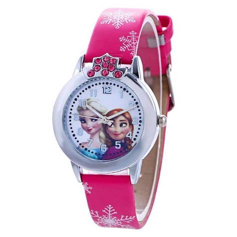 """Дитячі наручні годинники """"Холодне серце"""" (малиновий ремінець), фото 2"""