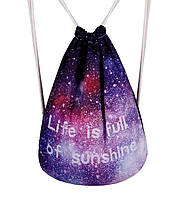 Рюкзак мешок космос  Life is full of sunshine, фото 1