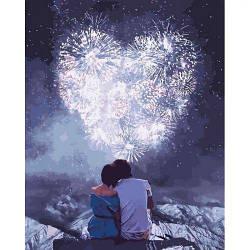 """Картина по номерам """"Влюблённые сердца"""""""