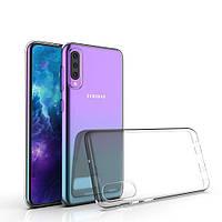 Силиконовый чехол Samsung Galaxy A50 (2019) Прозрачный