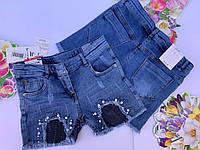 Джинсовые шорты для девочекот 11 до 14 лет.