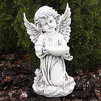 Статуэтка Ангел с пиалой 34 см СП502-3 беж фигура ангела статуя