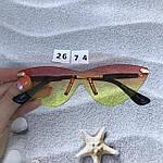 Стильные солнцезащитные очки без оправы, фото 5