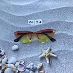 Стильные солнцезащитные очки без оправы, фото 3