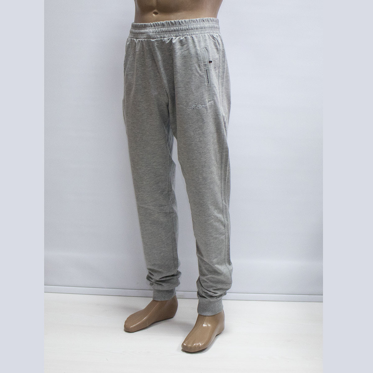 Мужские турецкие светлые спортивные штаны на манжете тм. FORE 9575N