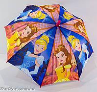 """Детский зонтик трость с мультяшными героями """"Disney"""" на 4-8 лет."""
