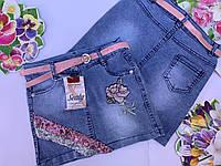Джинсовая юбка для девочек от 9 до 12 лет.