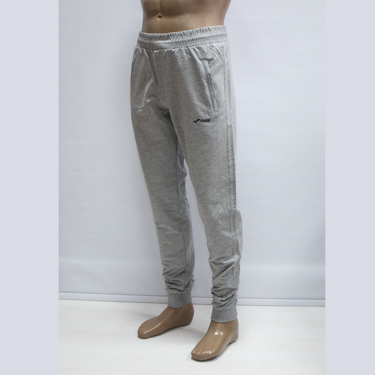 84aa3dcd Мужские турецкие светло-серые спортивные штаны под манжет тм. FORE 9574N