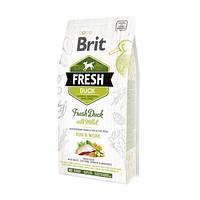 Cухой корм для активных собак Brit Fresh Duck Millet Adult свежая утка и пшено 12 кг (170997)