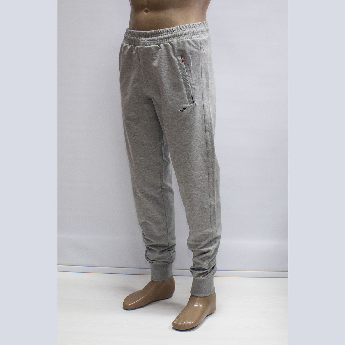 Мужские турецкие светло-серые спортивные штаны под манжет тм. FORE 9419N