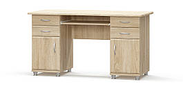 Стол письменный 1,4 м 2-тумбовый Мебель-Сервис