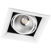 Врізний поворотний LED світильник Feron AL211 COB 30W, фото 1