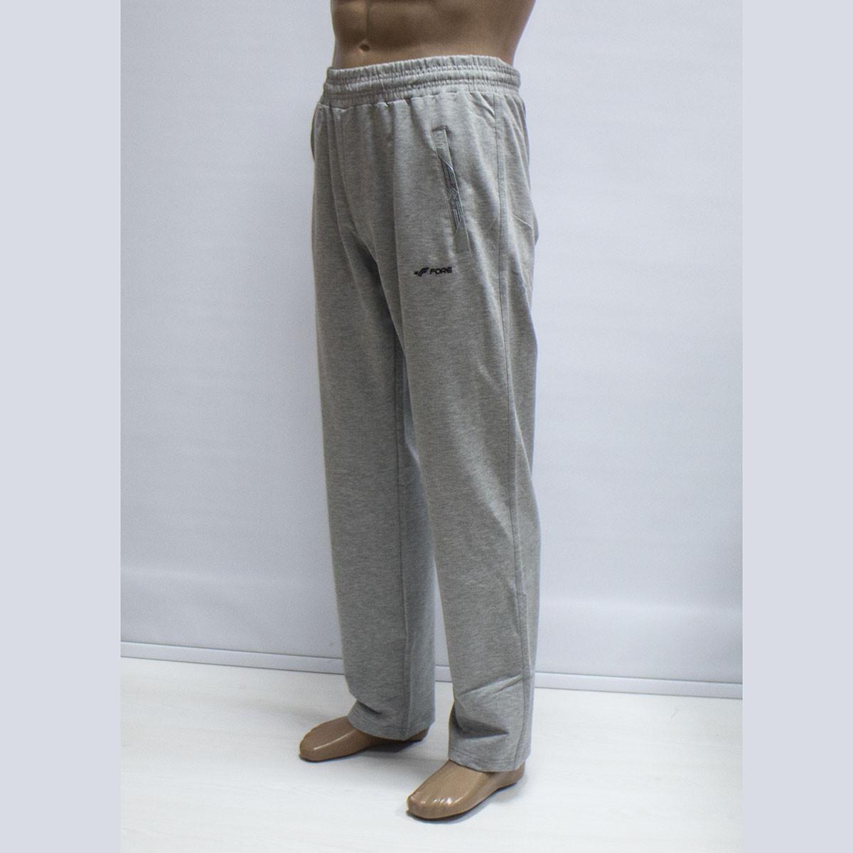 Мужские спортивные светлые штаны трикотаж производствоТурция тм. FORE 9535